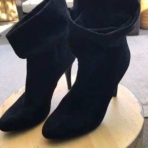 Black Slouchy Boots Size 10